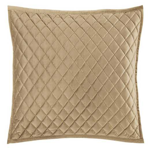 FB6300PS-SS-OM: HEA Quilted Velvet Standard Pillow Sham - Oatmeal