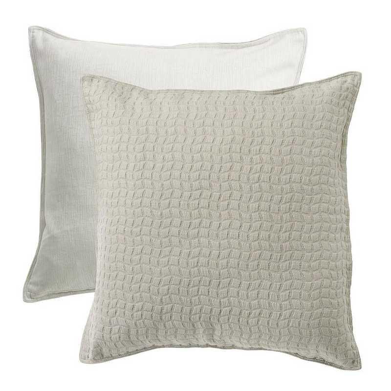 FB1615E1: HEA Wilshire Reversible TextuRed Fabric Euro Sham - 27x27