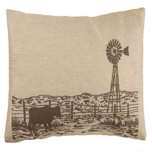 PL1808: HEA Windmill Burlap Pillow - 26x16