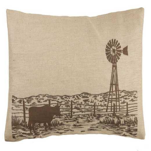PL1808: HEA Windmill Burlap Pillow - 26x16