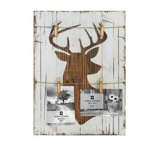 LD2403: HEA Wooden Picture Holder with Deer Bust