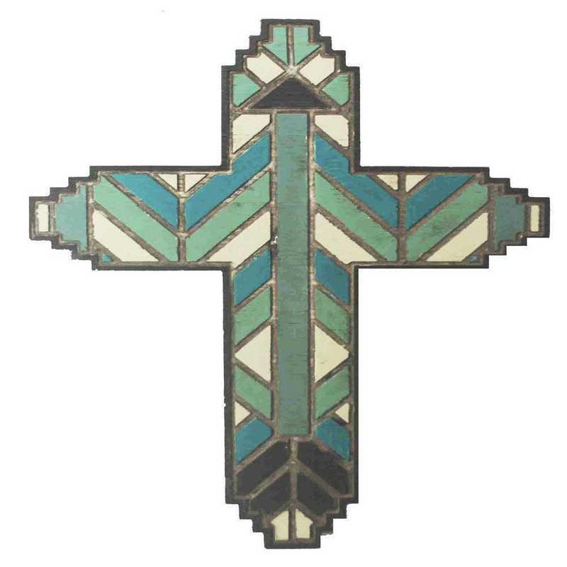 WD2702: HEA Wood Plank Motif Cross