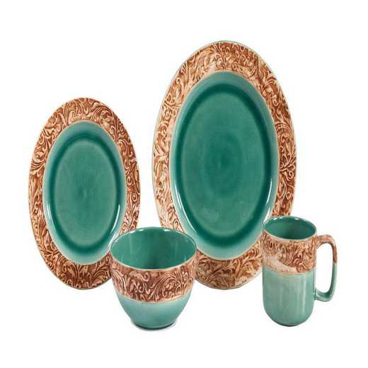 DI1762: HEA 16pc Wyatt Dinnerware Set