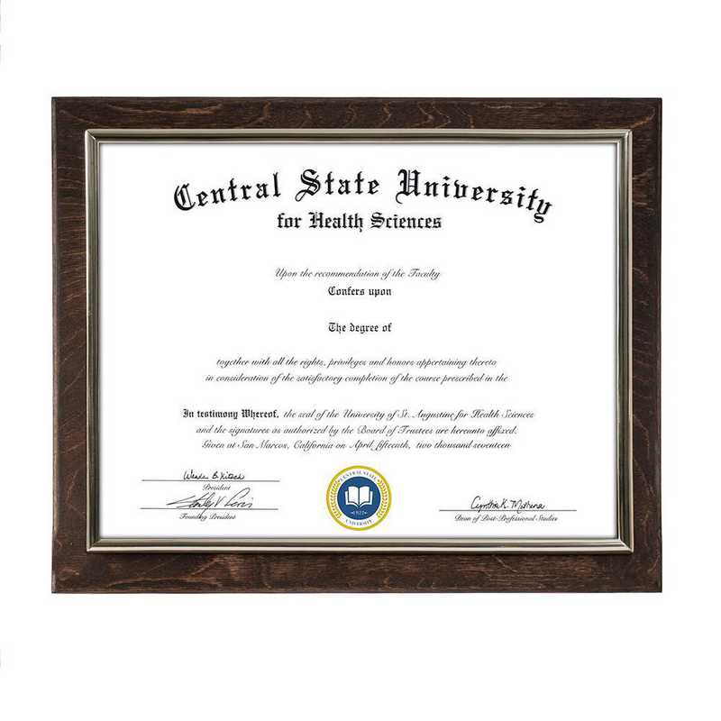 DM68-LWB4EX: Diploma Plaque Wall Mount Espresso-8.5X11