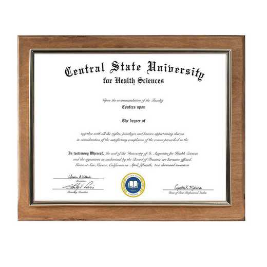 DM68-LWB4GO: Diploma Plaque Wall Mount Golden Oak-8.5X11