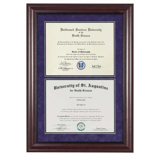 "Premium Double Diploma Frame- Classic fits 11"" x 14"" Diploma"