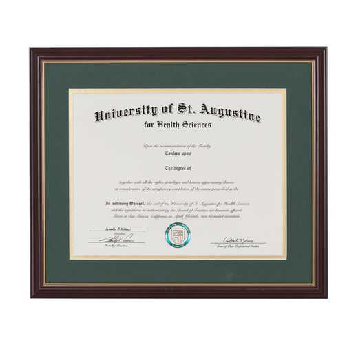 "Standard Cherry & Gold Diploma Frame fits 11"" x 14"" Diploma"