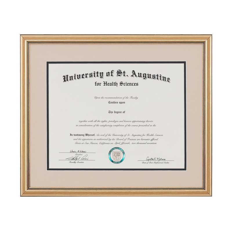 Standard Gold Diploma Frame Fits 8 5 X 11 Diploma