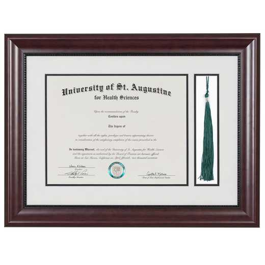 "Premium Classic Diploma Frame with Tassel Display fits 11"" x 14"" Diploma"