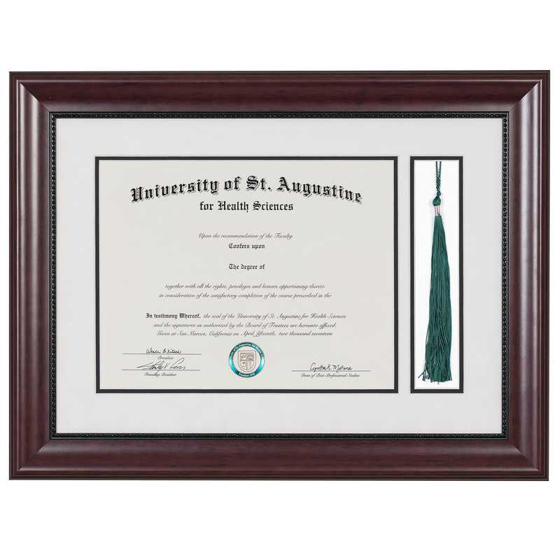 Premium Classic Diploma Frame with Tassel Display fits 11