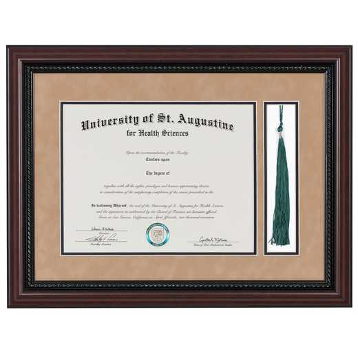 "Premium Rope Diploma Frame with Tassel Display fits 11"" x 14"" Diploma"
