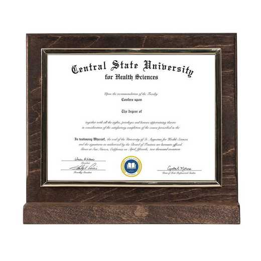DM68-LWB2BEX: Diploma Plaque Stand Stand Expresso-6X8