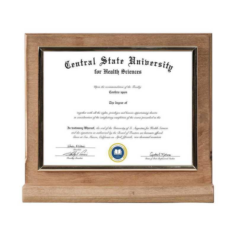 DM68-LWB2BGO : Diploma Plaque Stand Stand Golden Oak-6X8