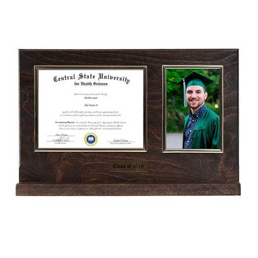 DM68-LWB3BEX: Diploma Plaque Stand 4x6 Photo Expresso-6X8