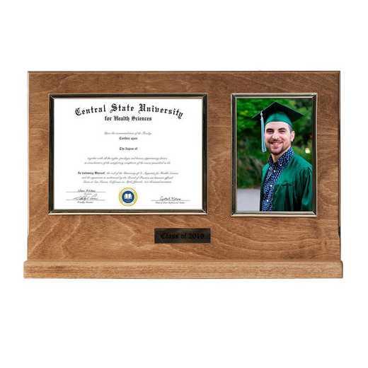 DM68-LWB3BGO: Diploma Plaque Stand 4x6 Photo Golden Oak-6X8