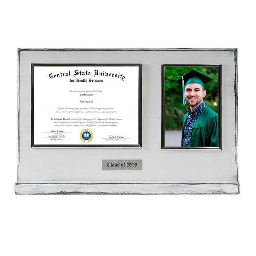DM68-LWB3BWH: Diploma Plaque Stand 4x6 Photo Whitewashed 6X8