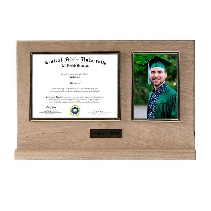 DM68-LWB3BWO: Diploma Plaque Stand 4x6 Photo Weathered Oak-6X8