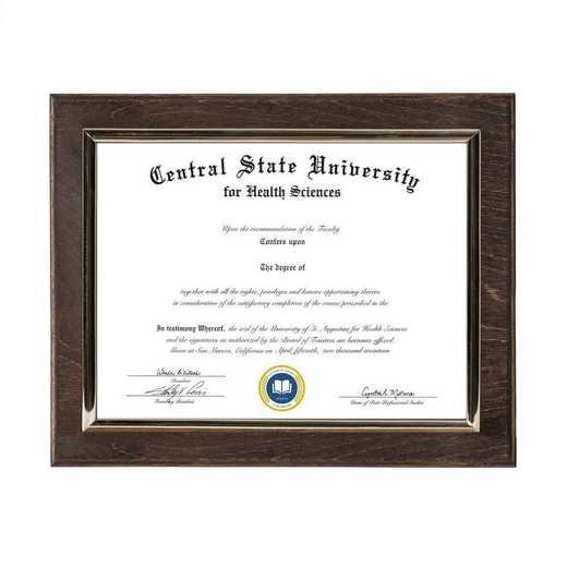 DM68-LWB2EX: Diploma Plaque Wall Mount Expresso-6X8
