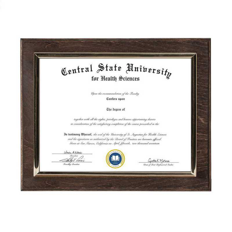 DM68-LWB2EX: Diploma Plaque Wall Mount Espresso-6X8