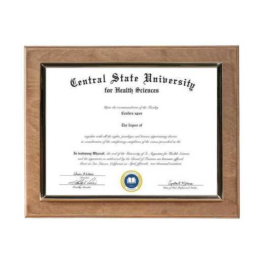 DM68-LWB2GO: Diploma Plaque Wall Mount Golden Oak-6X8