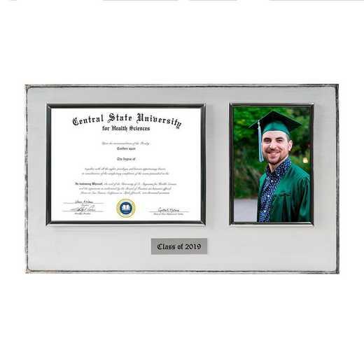 DM68-LWB3WH: Diploma Plaque Wall Mount w/4x6 Photo Whitewashed 6X8
