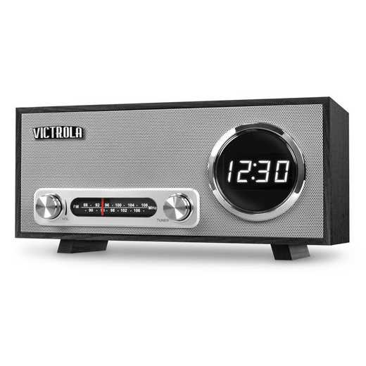 VC-100-BLK: IT Victrola BT Digital Clock Stereo and USB , Black