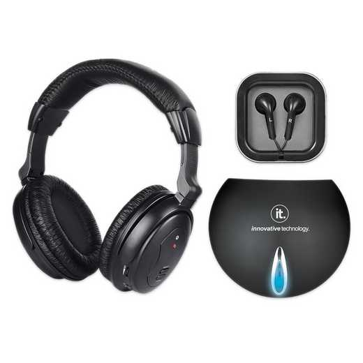 ITHW-858B: IT Wireless TV Listening Headphones , Black