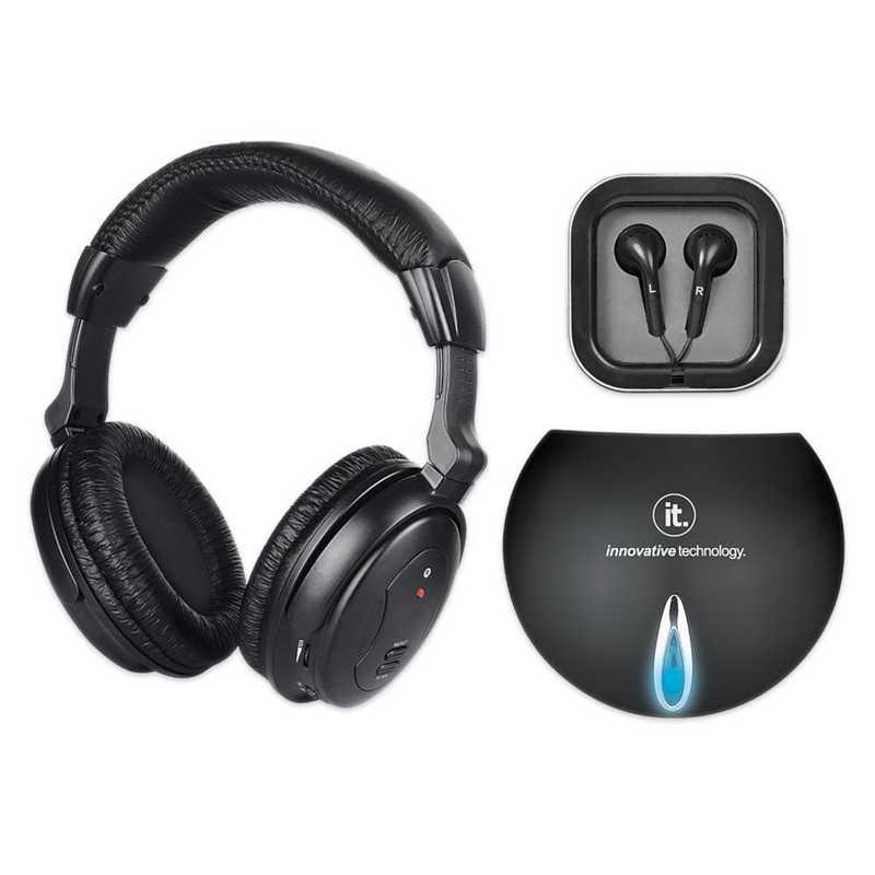 ITHW-858B: IT Wireless TV Listening Headphones , Black