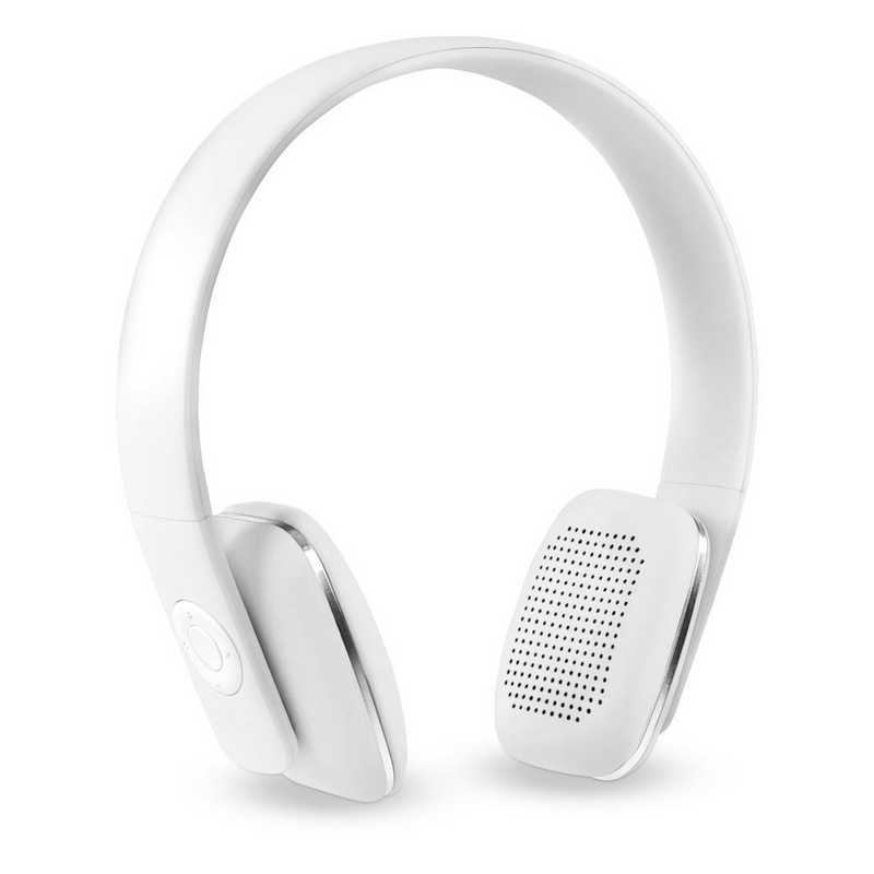ITHWB-700-WH: IT Wireless BT Headphones with Rubber Finish, White