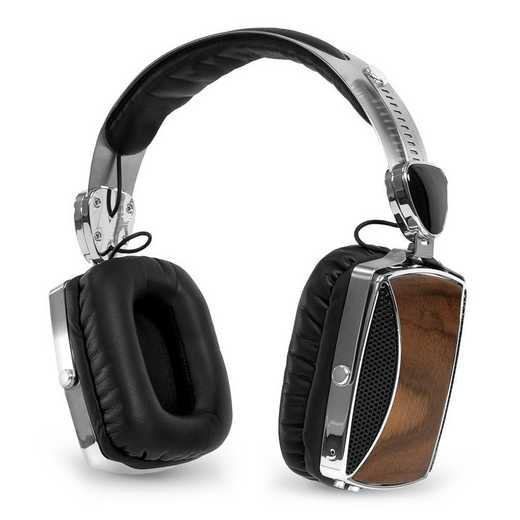 VSG-160: IT Victrola Wood and Chrome BT Headphones