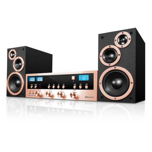 ITCDS-5000-RSG: IT 50 Watt Classic CD Stereo with Bluetooth, Rgold