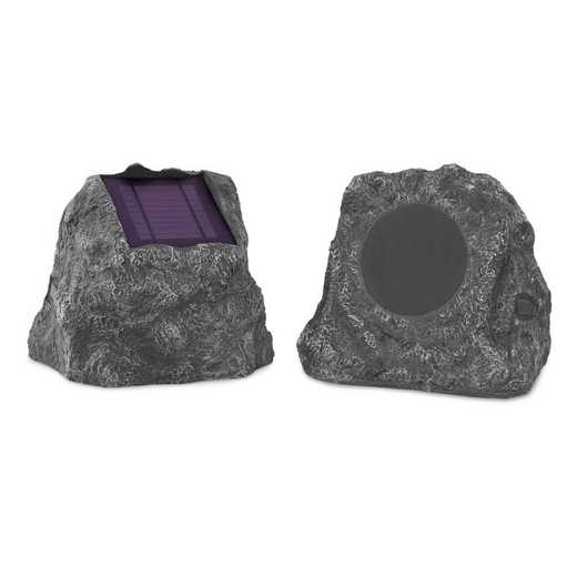 ITSBO-513PS5: IT Pair of Solar BT Outdoor Rock Speakers