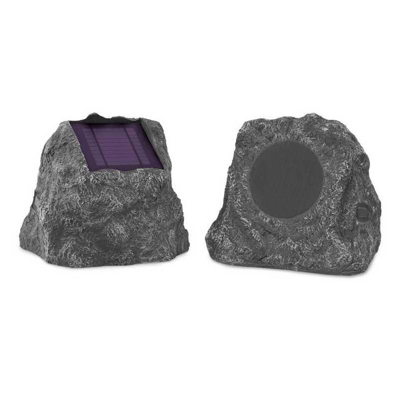 ITSBO-513PS5: IT Pair of Solar BT Outdoor Rock Speakers