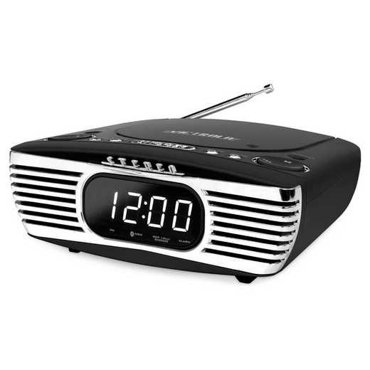 V50-250-BLK: IT Victrola Bedside Stereo with CD Player, Black