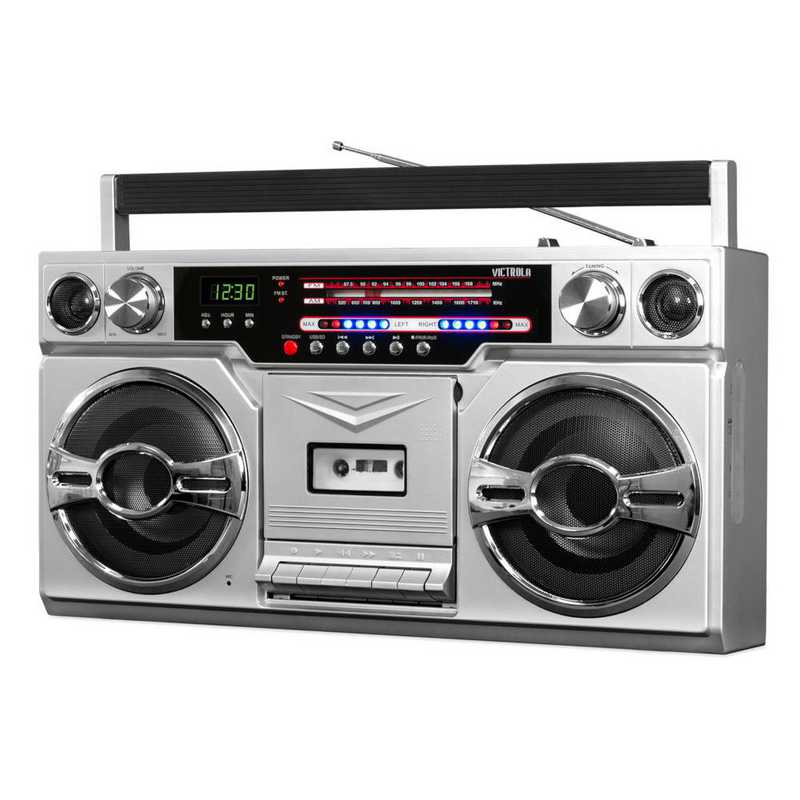 VBB-10-SLV: IT Victrola BT Boombox