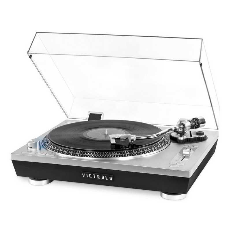 VPRO-2000-SLV: IT Victrola Pro Series USB Record Player, Silver