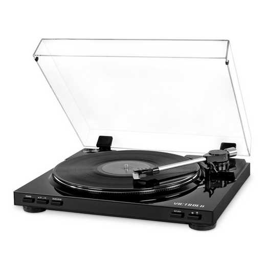 VPRO-3100-BLK: IT Victrola USB Record Player, Black