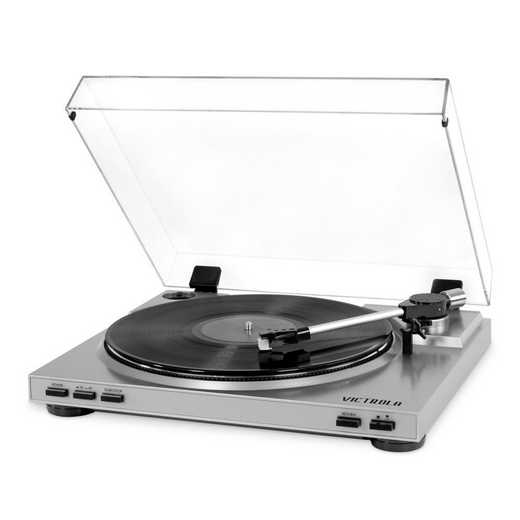 VPRO-3100-SLV: IT Victrola USB Record Player, Silver