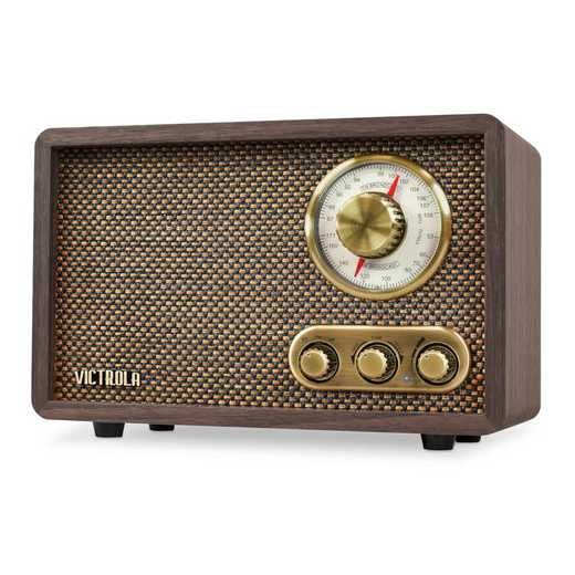 VRS-2800-ESP: IT Victrola Retro Wood BT with Rotary Dial, Expresso