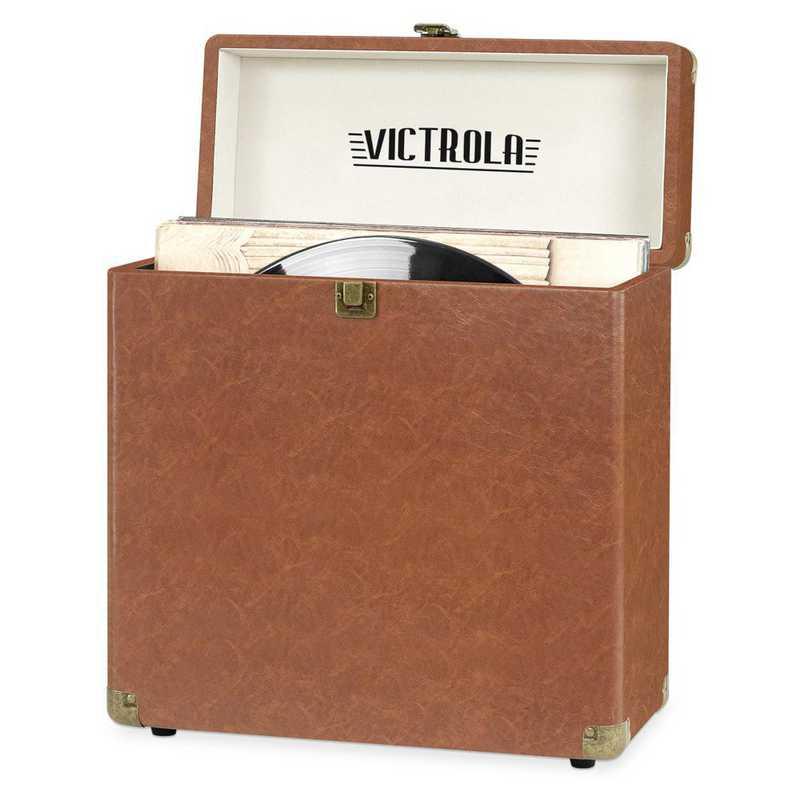 VSC-20-BRW: Victrola Storage case for Vinyl Turntable Records