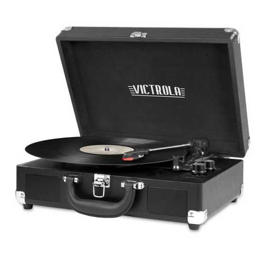 VSC-550BT-BLK: IT Victrola BT Suitcase Record Player, Black