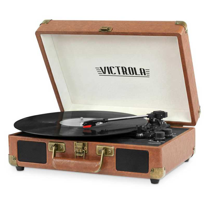 VSC-550BT-BRW: IT Victrola BT Suitcase Record Player, Brown