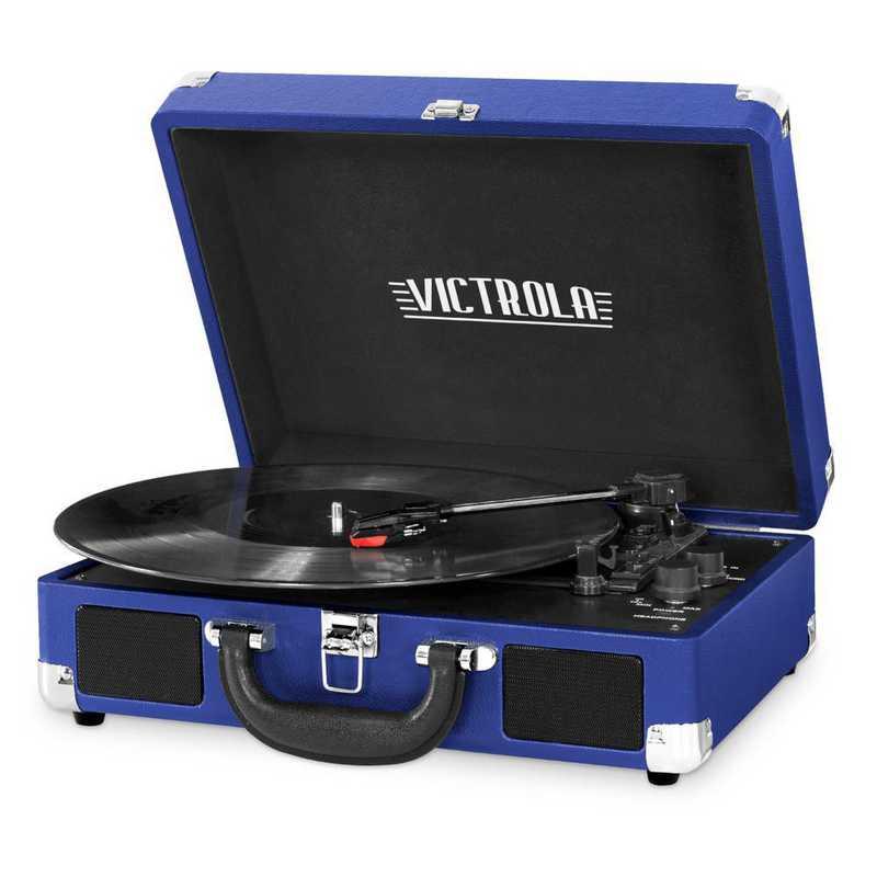 VSC-550BT-CBT: IT Victrola BT Suitcase Record Player, Dark Blue (Cobalt)