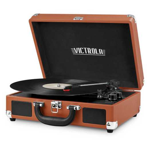 VSC-550BT-COG: IT Victrola BT Suitcase Record Player, Tan (Cognac)