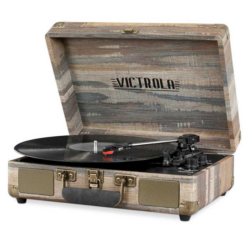 VSC-550BT-FSG: Victrola Bluetooth Suitcase Record Player 3-speed Turntable