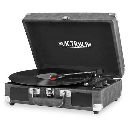 VSC-550BT-GRY: IT Victrola BT Suitcase Record Player, Grey