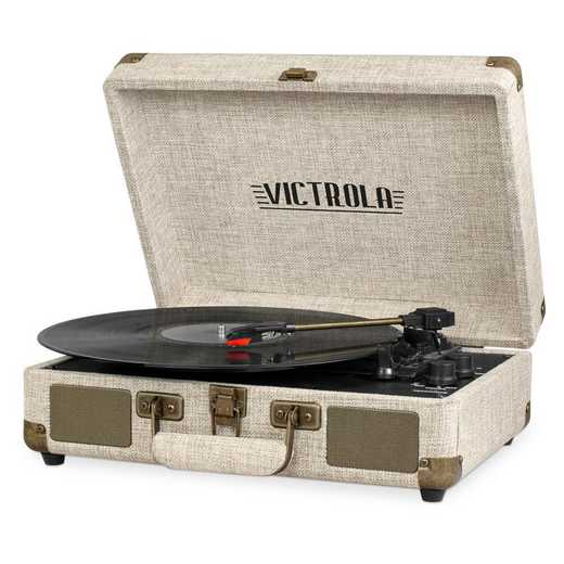 VSC-550BT-LBB: Victrola Bluetooth Suitcase Record Player 3-speed Turntable