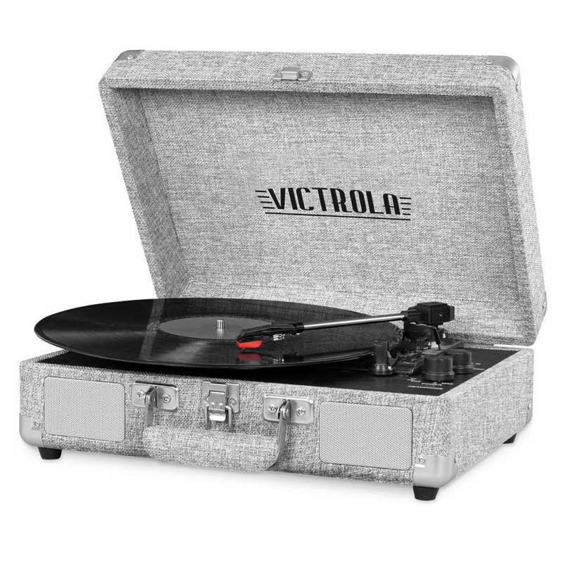 VSC-550BT-LGY: Victrola Bluetooth Suitcase Record Player 3-speed Turntable