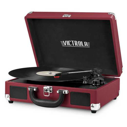 VSC-550BT-MSL: IT Victrola BT Suitcase Record Player, Purple (Marsala)