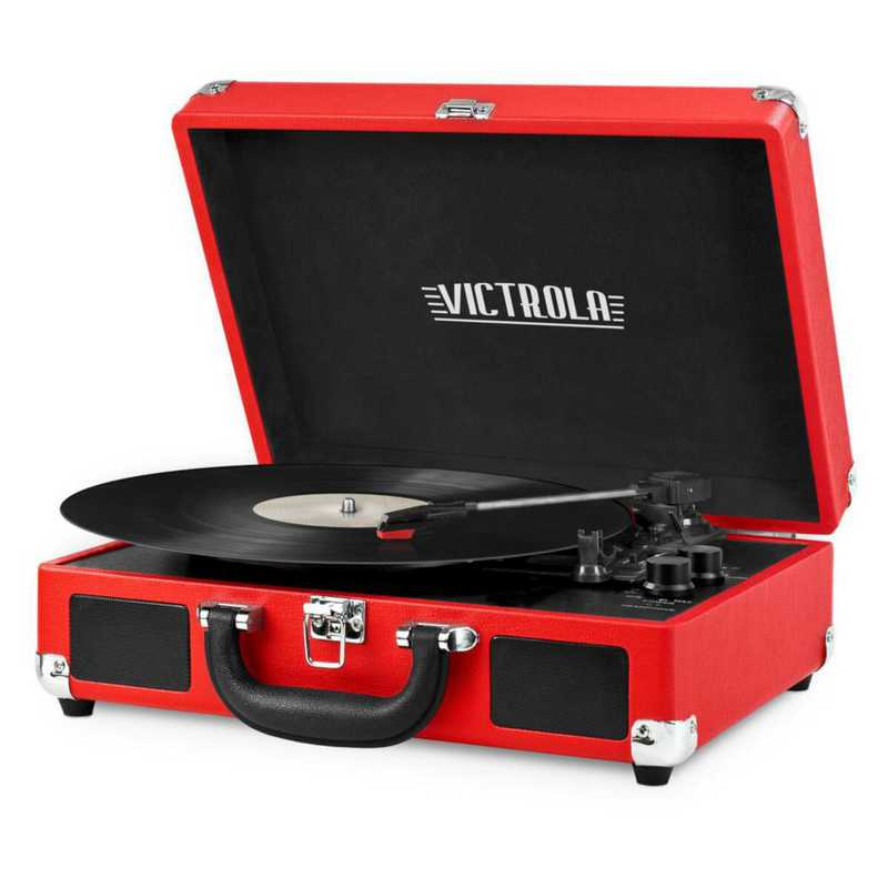 VSC-550BT-RED: IT Victrola BT Suitcase Record Player, Red
